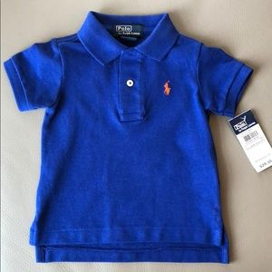Polo RL Blue Polo Shirt Size 9 mos NWT